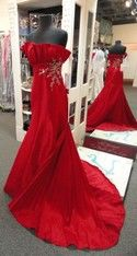 Tony Bowls Size 4 Small Red Taffeta Prom Pageant Long Formal #specialoccasion #formal #pageant #gown #prom