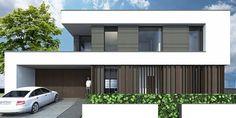 www.asabp.de privathaeuser Modern Architecture House, Facade Architecture, Cool House Designs, Modern House Design, Arch Building, Modern Properties, Best House Plans, Roof Design, Facade House