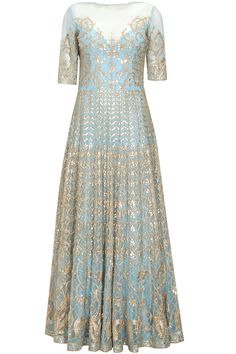Powder blue gota patti work nityasha gown at Pernia's Pop Up Shop.