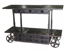 Edison Bar Cart Trolley with 9 Drawers | Town & Country Event Rentals