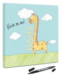 Canvas Kudos Baby Giraffe Decorative Sign 36 by 36Inch >>> Find out more about the great product at the image link. (This is an affiliate link and I receive a commission for the sales)