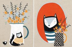 Wonderful new work by talented & lovely Nottingham-based illustrator Amy Blackwell (@Amy Blackwell)