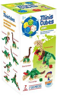 Un jeu de #construction en 3D ! Construis 7 maxi #dinosaures plus effrayants les uns que les autres ! Les mini #cubes s'emboîtent et se déboîtent facilement pour des constructions uniques. Connexions possibles dans tous les sens.