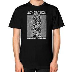 Joy Division Unknown Pleasures Unisex T-Shirt (on man)