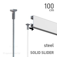 Artiteq Solid Slider 2mm Steel 100cm to 300cm