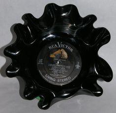From 1840 Farm - Repurposed Vinyl Bowl - Fever and Smoke. $8.00, via Etsy.