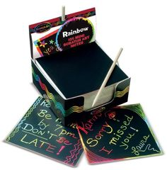 Ruby: Melissa & Doug Rainbow Mini Scratch Art Notes (Box of 125)