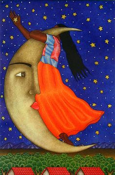 Untitled (La Luna)  Fernando Olivera (Oaxaca, Mexico),  Aquatint (19 1/4 x 12 3/4), #19,20,21/30, 2005