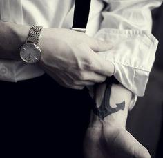 Marin  Tattoo  Love  Ink  Art  Clock  Black  Arm  Men  Pin  Repin