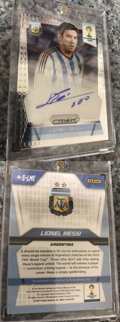Soccer Cards 183444: 2014 Panini Prizm World Cup Lionel Messi Autograph Argentina #S-Lme -> BUY IT NOW ONLY: $439.99 on eBay!