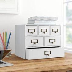 Gracie Oaks Viviana Desktop File Folder Organizer with 2 Pockets and 2 Drawers   Wayfair File Folder Organization, Desktop Organization, Storage Organization, Organizing, Desk Organizer Set, File Organiser, Apothecary Bathroom, Desk Supplies, Desk Pad