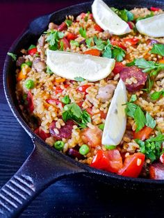 #Recipe - Paella with Chicken and Chorizo!!