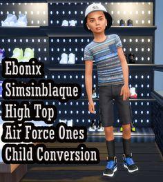 Ebonix SimsinBlaque High Top Air Forces Child Conversion
