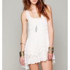 [Free People] Trapeze Dress NWOT White/gray combo. Free People Dresses Asymmetrical