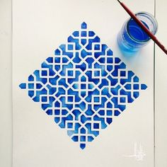15 super Ideas for drawing patterns geometric islamic art Islamic Art Pattern, Arabic Pattern, Geometry Pattern, Pattern Art, Pattern Design Drawing, Pattern Painting, Pattern Ideas, Geometric Designs, Geometric Art