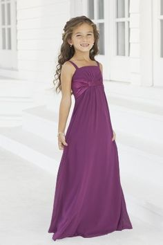 Charmeuse Gathered,Pleated,Straps Style 40 Junior Bridesmaid Dress by Alexia Designs