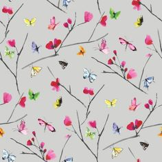 Holden Floral Butterfly Wallpaper So Pretty