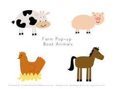cute little farm animals from Creative Preschool Resources