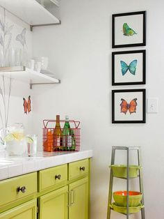 Print these beautiful watercolor butterflies from artist Amy Kirkpatrick to use as wall art in your home.