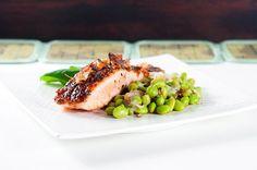 Oriental Basil Glazed Salmon