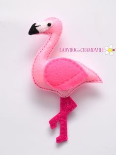 FLAMINGO – FELT MAGNET More