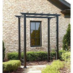 Metal Arbor with Flat Roof