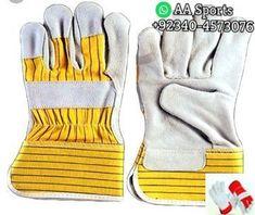 12 Paris Westchester Hi-Viz Split Cowhide Leather Palm Gloves Medium