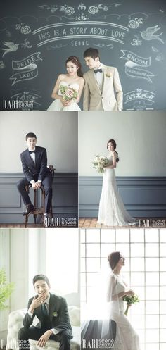 Modern and chic Korean wedding photography concepts