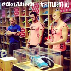 three Crossfit champs! #getafterit #Reebok #fitfluential recap of a day at Reebok Crossfit fit hub.