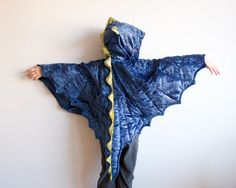 Dragon Costume, Party Fairy Tale Dragon Costume, Dragon Skin, Halloween Costume with Wings, Dinosaur