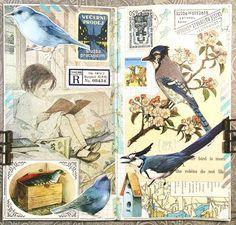 #constancerosedesigns #collage #collagejournal #collagejourney #collageartist #artjournal #mtn #midoritravelersnotebook #travelersnotebook #vintagepaper