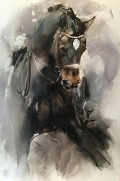 Click Visit link for more info Watercolor Horse, Watercolor Animals, Pretty Horses, Beautiful Horses, Horse Drawings, Art Drawings, Horse Artwork, Equine Art, Animal Paintings