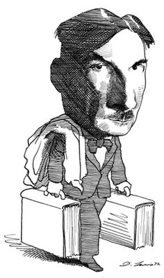 Yevgeny Zamyatin by David Levine David, New York, Framed Prints, Caricatures, Gallery, Drawings, Writers, Illustration, Artist