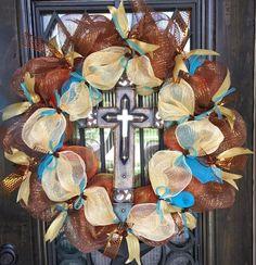 Summer Cross Wreath