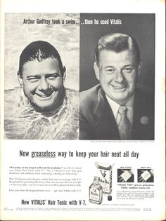 Vitalis Hair Tonic Arthur Godfrey Page LIFE May 16 1955
