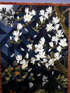 Tokyo Quilt Show by Robots-Dreams, via Flickr. Lovely blossoms