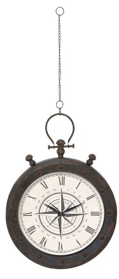 Metal Hanging Wall Clock on Chain
