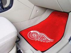 Detroit Red Wings 2-pc Printed Carpet Car Mat Set