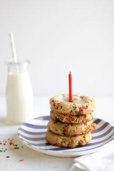 Birthday Cake Cookies | Oh So Delicioso