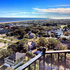 Gorgeous view from the top of the #TybeeIsland Lighthouse! [Photo by @anthony_martin2] #VisitTybee