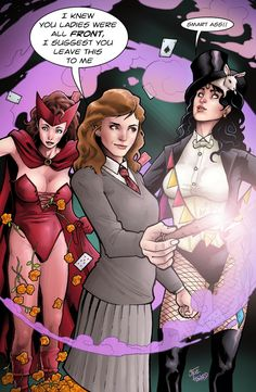 The Other Side blog: Zatannurday: Zatanna at Hogwarts!