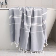 Hamam Towel Grey White XL, 24€, now featured on Fab.
