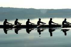 There is so much peace in rowing