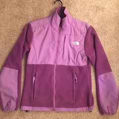 North Face Denali  jacket Purple North Face jacket, great condition. Women's size small North Face Jackets & Coats