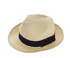 Trilby Summer Beach Sun Straw Panama Hat....Lucas