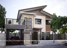50 Small Two-storey House Designs That Can Be Fitted In Small Lot Area - Facade house - Pinnwand