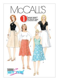 McCall's M5430- Wrap Skirt (Size 12-20)