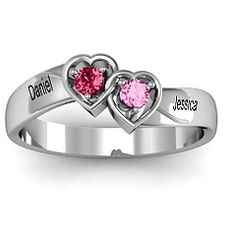 Mothers ring with birthstones