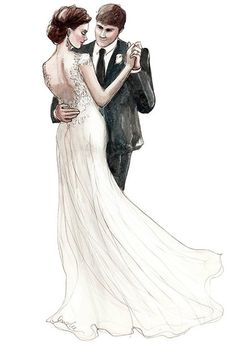 Ideas For Wedding Couple Sketch Drawing Paar Illustration, Wedding Illustration, Illustration Mode, Couple Illustration, Illustration Artists, Wedding Drawing, Wedding Art, Wedding Images, Wedding Couples