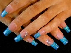 Faded turquoise - Nail Art Gallery by NAILS Magazine